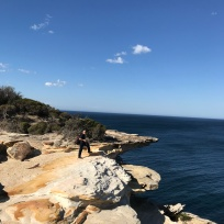 Keeping a safe distance from the edge in the Royal National Park.