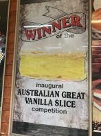 Sign on the window of the Halls Gap Bakery!