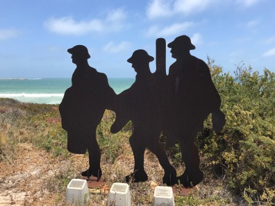 Anzac Soldier Silhouettes at Granny's Beach