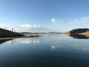 Reflections on Lake Argyle
