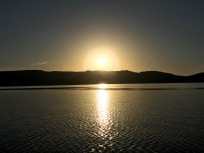 Sun Setting over Lake Argyle