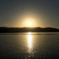 Sun Setting over Lake Argyle