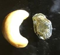 Biggest Raw Sapphire versus Raw Cashew Nut!