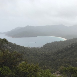 Wineglass Bay without sunshine